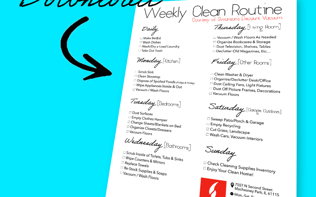 "FREE DOWNLOAD: Swanson's ""Weekly Clean Routine"""