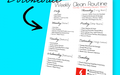 """FREE DOWNLOAD: Swanson's """"Weekly Clean Routine"""""""